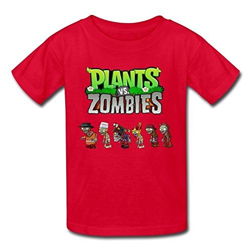 LesGo-Tshirt Kid's Geek Plants Vs. Zombies T-Shirts Size L covid 19 (Plants Zombies Pattern coronavirus)