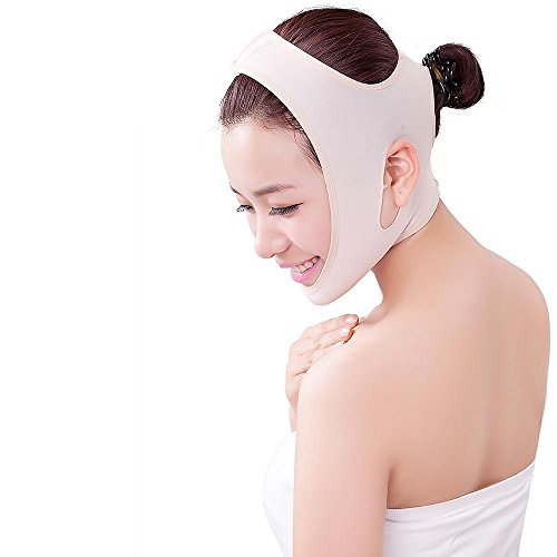BFRed Face Slimming Cheek Mask,Full  Face Style Anti Wrinkle Face Slimming, V Face Line Slim up Belt (M) (Full Bandage Face)