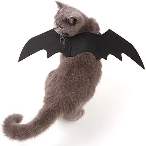 Nigua Pet Cat Bat Wings for Halloween, Cosplay Bat Wing Costume Decoration for Puppy Dog Cat 20