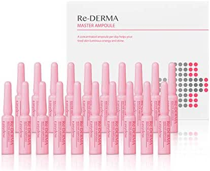 Easydew Re-DERMA Master Ampoule 1ml x 20 Vials - Award-Winning Anti Aging Serum with Human Epidermal Growth Factor, Naturally Produce Collagen to Rejuvenate & Regenerate Cells for Wrinkles with DW-EGF
