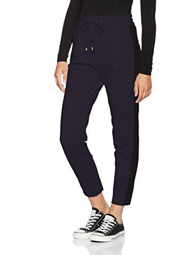 VERO MODA VMDONNA PANEL ANCLE PANTS, Pantalones Mujer Azul (Navy Blazer)