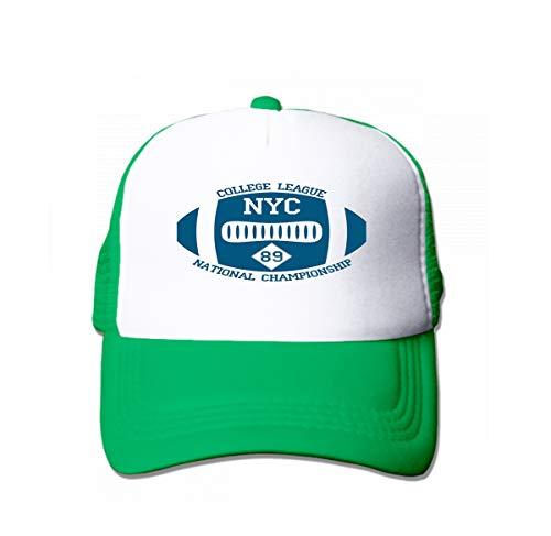 Adult Grid Baseball Caps Unisex Sunshade Hat Mesh Hat Snapback Cap Graphics New York Sport Typography University Football Athletic Green
