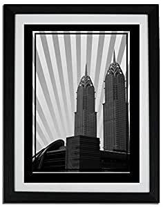 Al Kazim Towers Metro - Black And White No Text F06-m (a2) - Framed