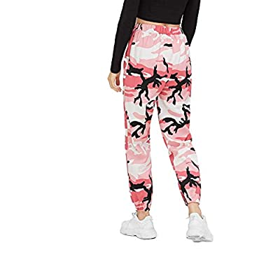 Womens Track Pants Floral Pants for Women Casual Pants Floral Camouflage Pants (Pink, L) at  Women's Clothing store