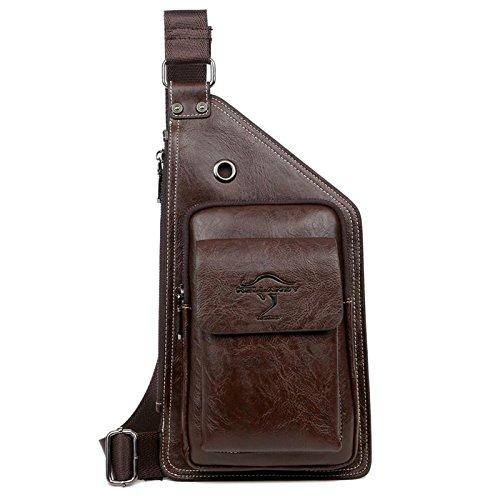 equitación Brown hombro libre bolsa al pecho de de bolsa de corteza aire escalada bolsa negocio Mochila mensajero wXpSWqFp