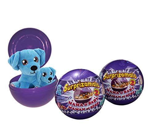 Surprizamals, Mama & Baby 3 Pack - Mystery Balls with 2-Collectible Plush Toys (Series 2)
