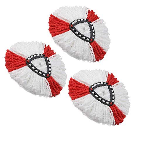 3 stuks vervangende wismop voor Vileda O-Cedro microvezel, navulverpakking voor Spin Mop 360 draaibaar
