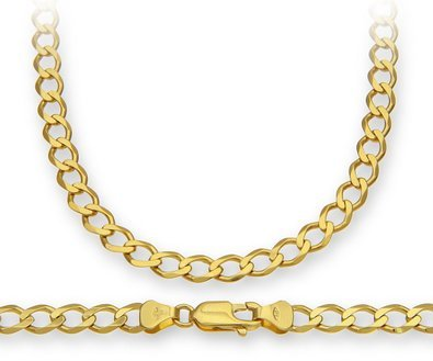 18K Solid Yellow Gold Heavyweight 4.5mm Cuban Curb Link Chain Necklace- Italian Design- 20''-18 Karat by PORI JEWELERS (Image #4)