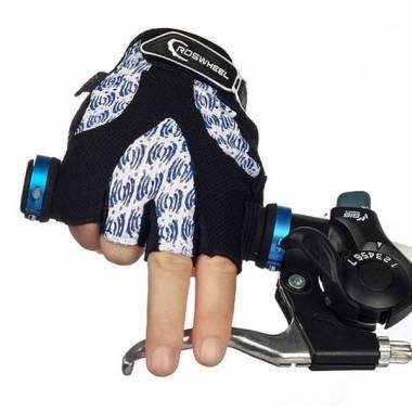 ROSWHEEL Cycling Half Finger Gloves Outdoor Gloves Multicolor.