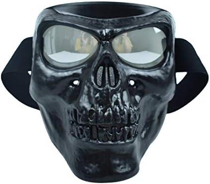 CHCYCLE Gafas de casco de motocicleta Mascarilla desmontable negro