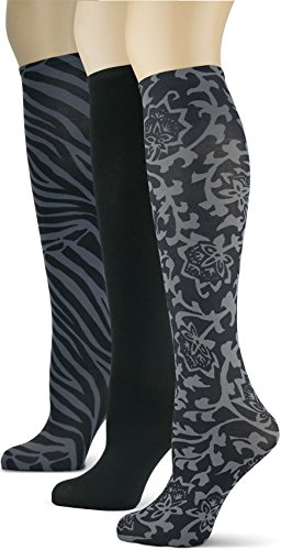 - Knee High Trouser Socks w/Colorful Printed Patterns - Made in USA by Sox Trot (3 Lace & Tiger)