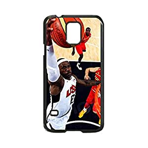 Lebron James Miami Heat Champs Slam Dunk Custom Image Case, Diy Durable Hard Case Cover for Samsung Galaxy S5 I9600, High Quality Plastic Case By Argelis-Sky, Black Case New