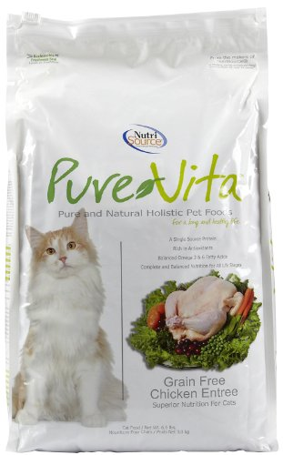 Pure Vita Grain Free Chicken and Peas Cat Food, 6.6-Pound