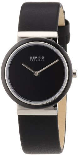 BERING Time 10729-442 Womens Ceramic Collection Watch with Calfskin Band and scratch resistant sapphire crystal. Designed in Denmark.