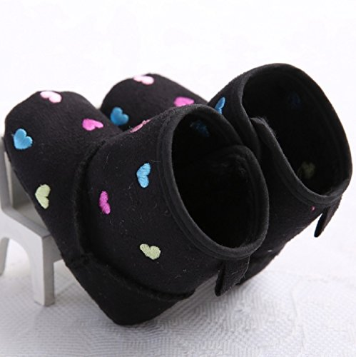 El Cuna Suela Otoño Bebé Negro De Niño Las Suave Guarda Para Botas Mes Auxma La Zapatos Nieve Del Calientes 18 0 6tS47cw6q