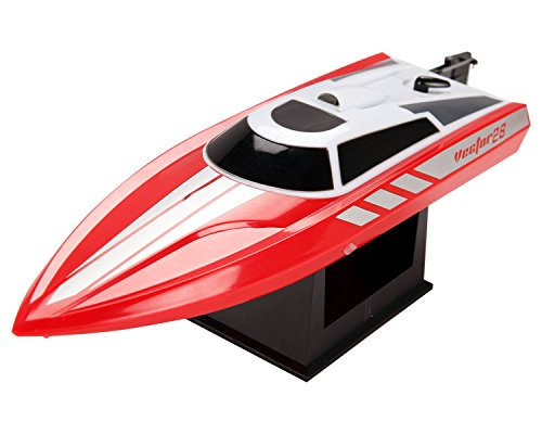 Pool Racer - POCO DIVO 2.4Ghz Deep-V Pool Racer RC Vector28 High Speed Racing Boat Radio Control Mini Mosquito Craft (color may vary)