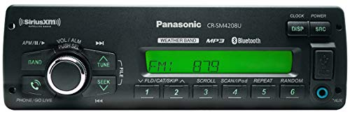 Panasonic CRSM4208U Mechless(No CD Player) Heavy Duty AM/FM/WMA/MP3/WB with Front Panel USB Port, Integrated Blue Tooh, and SXM Satellite Radio