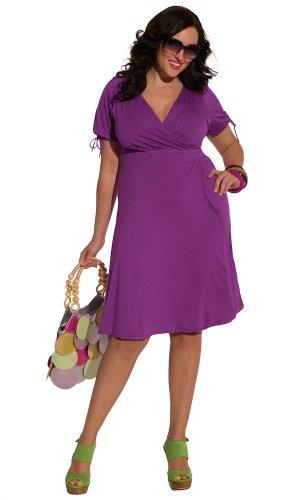 IGIGI Women's Plus Size Angie Dress in Mulberry Purple 18/20
