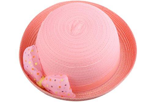 [JIERKU summer straw hat sun hats for kids pink straw hat girl sun hat Pink] (Leopard Cowboy Hat)