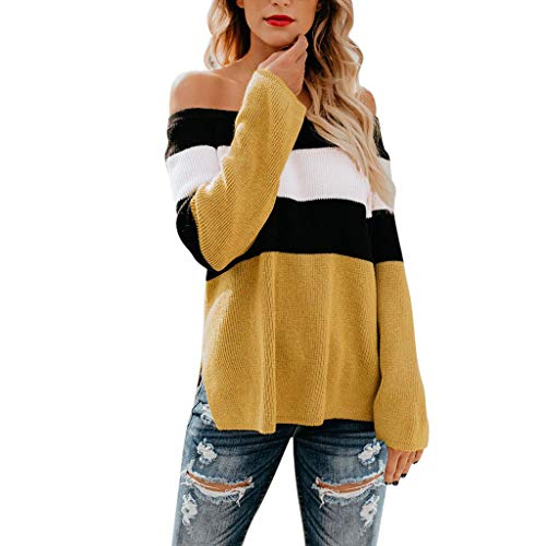 - Keliay Bargain Womens Casual Off The Shoulder Long Sleeve Pullover T-Shirt Blouse Tops