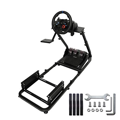 Marada Driving Racing Seat ,Racing Simulator Steering Wheel Stand Compatible for T500, FANTEC, T3PA/TGT, G25, G37, G29/T300RS Not Included Racing Wheel Stand