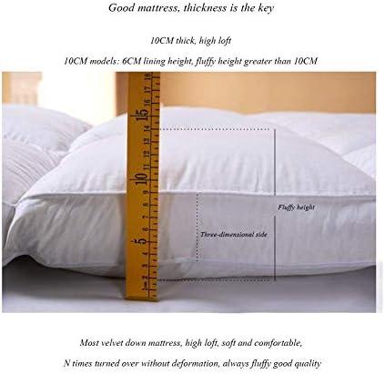 LINLIN Matelas Tatami Épaissi Matelas de Sol en Duvet Trois Dimensions Blanc,150 * 200CM