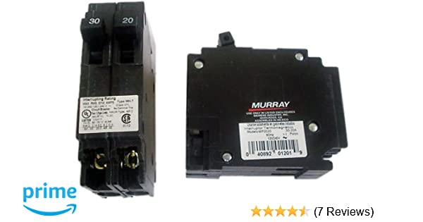 Murray MP3020 Mp23020 Triplex Type Mh-T Circuit Breaker, 120/240 Vac, 20-30  A, 2 P, 10 Ka