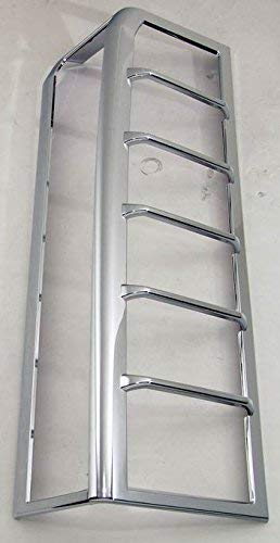 WCS Hummer H3 Chrome Taillight Guards/Tail Light Covers 2006-2010 H3 (Does NOT Fit H3T)
