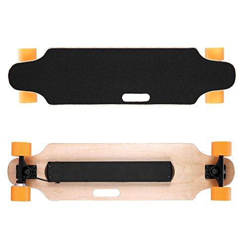 Remote 250w (38'' Wireless Remote Electric Skateboard, 9 MPH 250W Hub Motor Skateboards for Kids/Teens/Adults Max Speed 25km/h, 7-ply Canadian Maple Deck--Up to 265lbs[US STOCK])