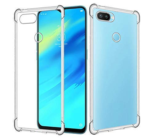 Swagpur Tranparent Back Cover for Realme 2 Pro  Soft, Transparent