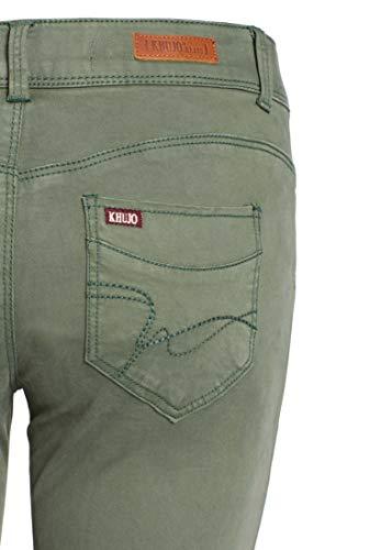 Pantalon Olive Uni Khujo Slim Femme p4ddq7wZ