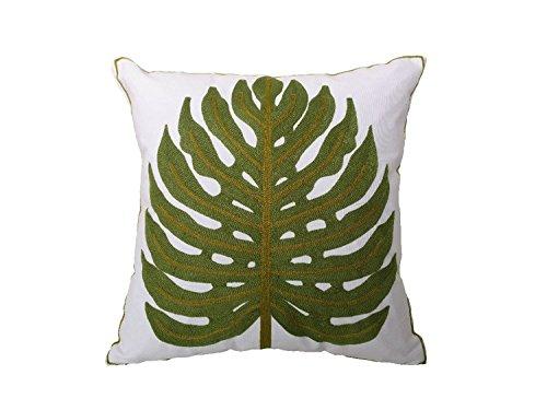 Tropical palm de hojas bordado funda para cojín, diseño de ...