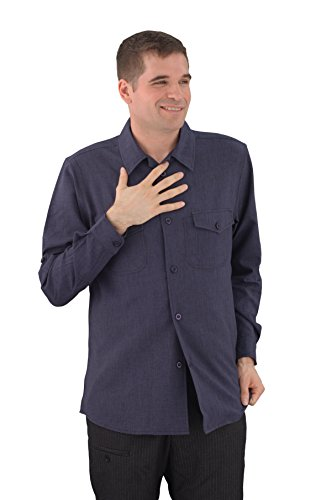 ASD Living Zanzibar Long Sleeve Dry Fit Server Waitstaff Shirt, Large, Navy Blue by ASD Living