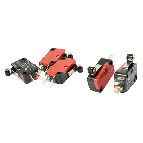 Micro Switch - TOOGOO(R) 5Pcs SPDT NO NC V-155-1C25 Short Hinge Roller Lever Control Limit Micro Switch -