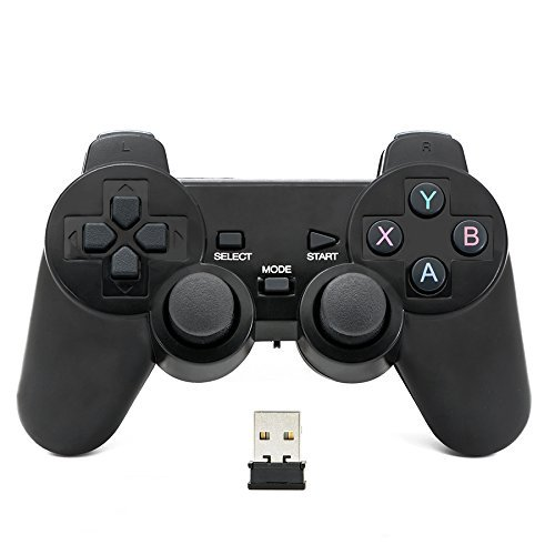 QUMOX 2.4GHz Wireless Gamepad Joystick Joypad Game Controller for PC (Can't Support win10)