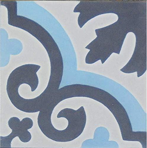 Zementfliesen Iraquia 4551 blau schwarz wei/ß