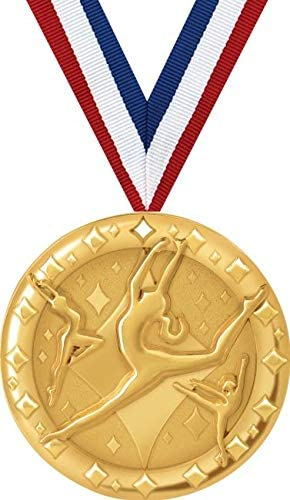 FREE Ribbons Tap dancing Gold Metal Medals with FREE Trophy FREE P/&P
