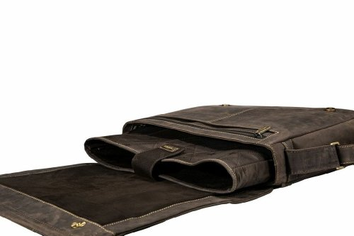 Visconti Messenger Bag with Laptop Sleeve for 15'', Brown, X-Large by Visconti (Image #3)