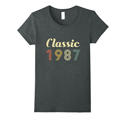 Womens Vintage 31 Year Old Birthday Gift Classic 31st 1987 Shirt Small Dark Heather