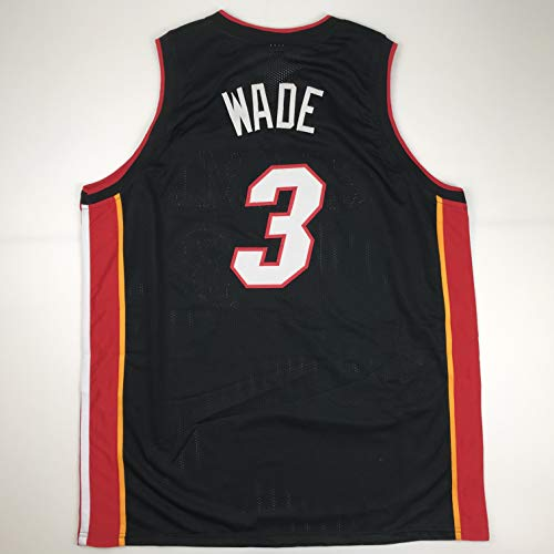(Unsigned Dwyane Wade Miami Black Custom Stitched Basketball Jersey Size Men's XL New No Brands/Logos)