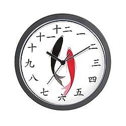 CafePress - Chinese Fish - Unique Decorative 10 Wall Clock
