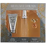 Elizabeth Taylor Brilliant White Diamonds Women Giftset (Eau De Toilette Spray, Luxurious Body Lotion, White Diamond Parfum)
