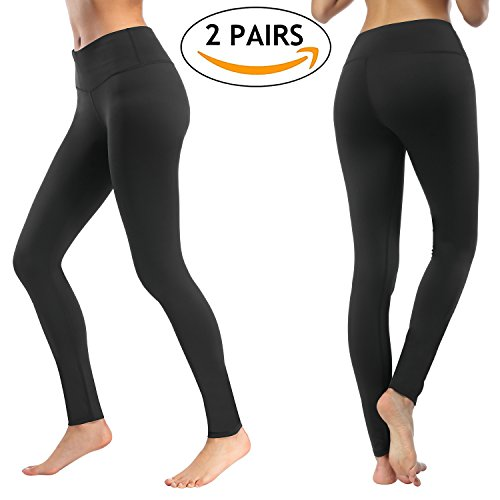 Yoga Pants (2 Pairs), Deilin High Waist Tummy Control Workout Yoga Leggings