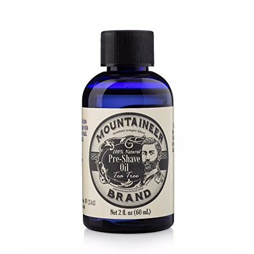(Pre-Shave Oil by Mountaineer Brand | Reduce Nicks and Irritation for Close Shaving | 2-ounce (Tea Tree))
