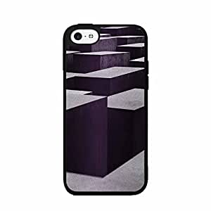 3D Block Illusion Plastic Phone Case Back Cover iPhone 5 5s includes diy case Cloth and Warranty Label