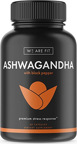 Ashwagandha 1300mg Extra Strength Supplement, Natural Support for Mood & Energy Levels - Supports Immune System and Adrenal Health - Black Pepper Promotes Maximum Absorption, 60 Veggie Caps
