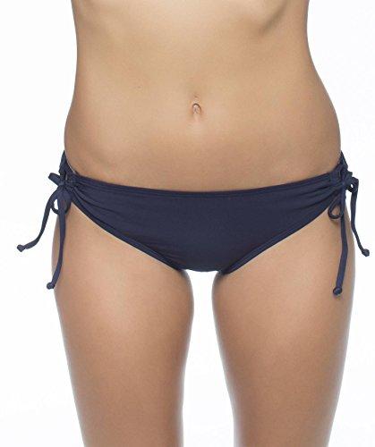 Nautica Women's Signature Tunnel Side Bikini Bottom, Navy, 4 (Tunnel Tie Bikini)