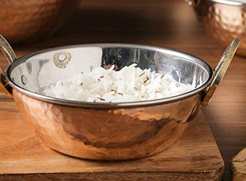 Tazones de fuente de acero inoxidable de cobre de 700 ml utilizados como bol de cereal, cuenco de arroz, cuenco de fideos, tazón de helado, conjunto de 4, ...