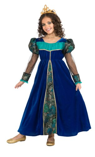Girls Medieval Princess Costumes (Camelot Princess Costume, Blue, Small)