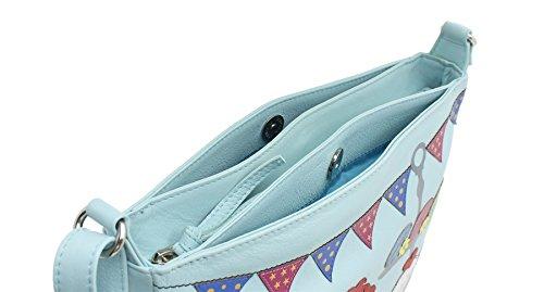 Hombro Tea Tiempo Del Piel Mala Para Bag cross De Colección Cuero 12 7130 Azul Body r8Tq8Iwx